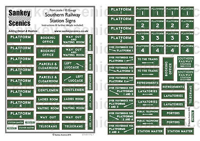 1 Southern Railway Station Signs 7mm REV