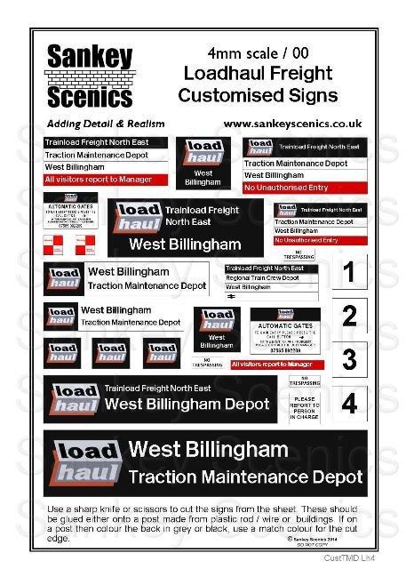 4mm Customised TMD Signage: Trainload Loadhaul