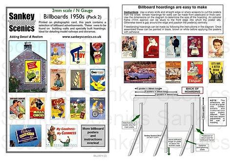 2mm Billboards 1950s Pack 2