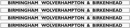 4mm GWR Hawksworth Destination Boards: Birmingham, Wolverhampton & Birkenhead