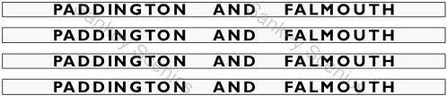 4mm GWR Hawksworth Destination Boards: Paddington & Falmouth
