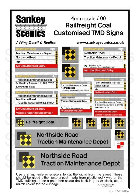 4mm Customised TMD Signage: BR Railfreight Coal Sector