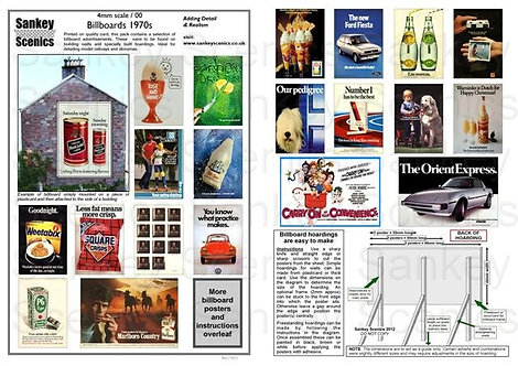 4mm Billboard Posters 1970s Pack 1