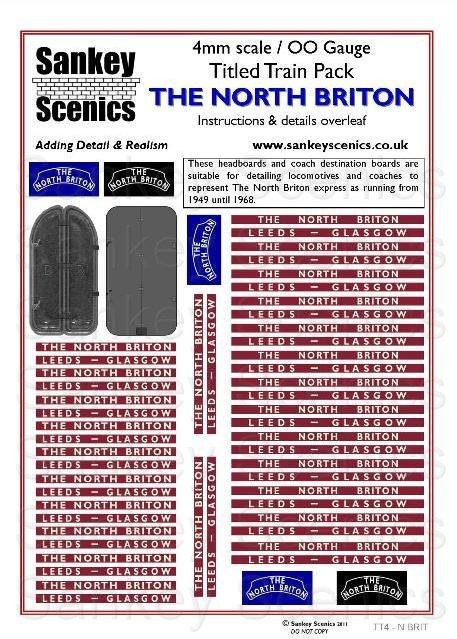 4mm Titled Train: The North Briton