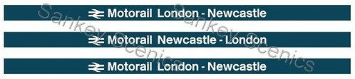 4mm Motorail Destination Boards: London - Newcastle