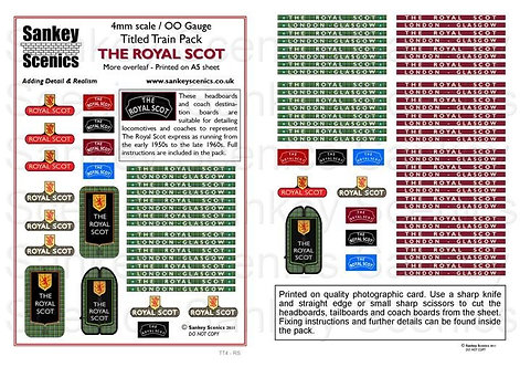 4mm Titled Train: The Royal Scot