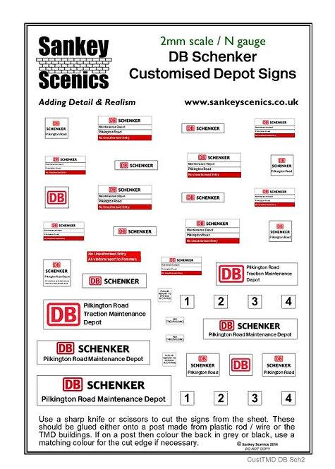 2mm Customised TMD Signage DB Schenker Depot