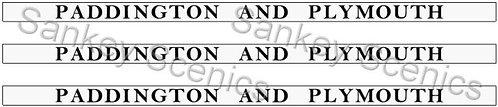 4mm GWR Destination Boards: Paddington & Plymouth