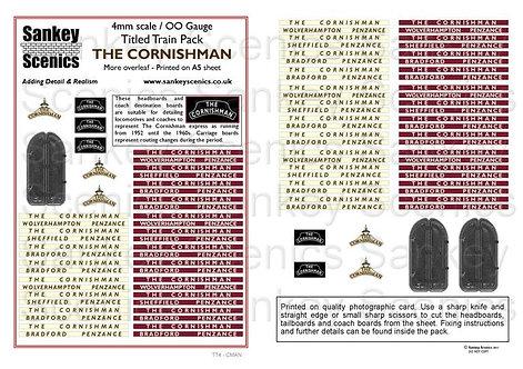 4mm Titled Train: The Cornishman