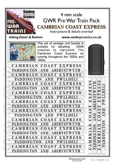 4mm Pre-war Titled Train: Cambrian Coast Express
