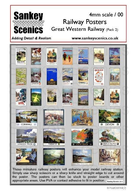 4mm GWR Posters Pack 2