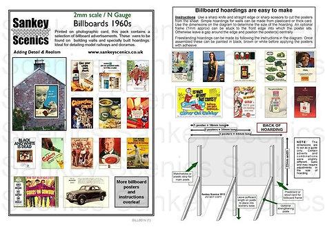 2mm Billboards 1960s Pack 1