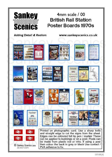 4mm BR Poster Boards 1970s