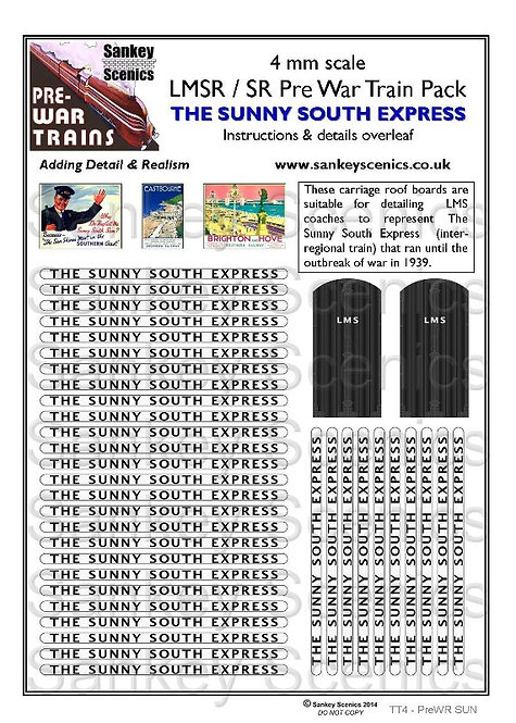 4mm Pre-war Titled Train: The Sunny South Express