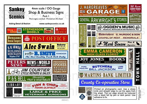 4mm Shop & Business Signs  Pack 1