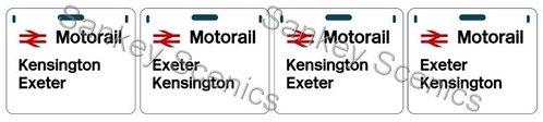 4mm Motorail Destination Panels: Kensington, Exeter