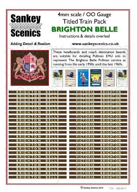 4mm Titled Train Pack: Brighton Belle