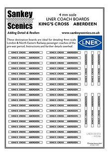 4 mm Scale LNER Kings Cross to Aberdeen.