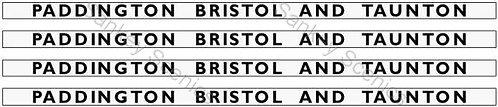 4mm GWR Hawksworth Destination Boards: Paddington, Bristol & Taunton