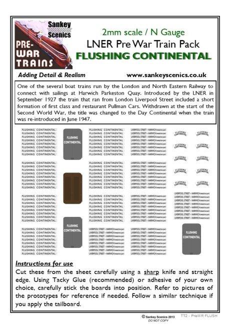 2mm Pre-war Titled Train: Flushing Continental