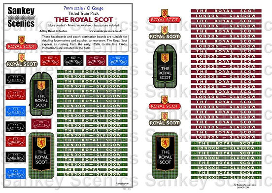 7 mm Scale Named Train The Royal Scot.jp