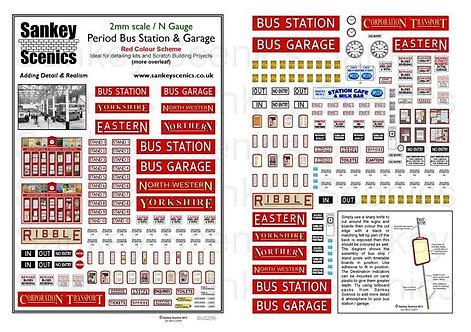 2mm Period Bus Station & Garage  Red Colour Scheme