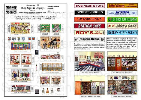 4mm Shop Signs & Displays  Pack 2