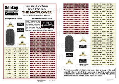4mm Titled Train: The Mayflower