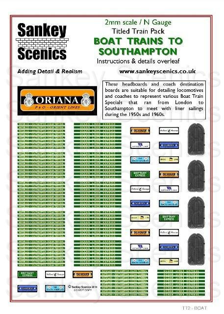 2mm Titled Train Pack: Boat Trains to Southampton