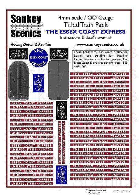 4mm Titled Train: Essex Coast Express