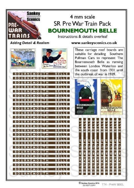 4mm Pre-war Titled Train: Bournemouth Belle