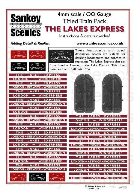4mm Titled Train: The Lakes Express