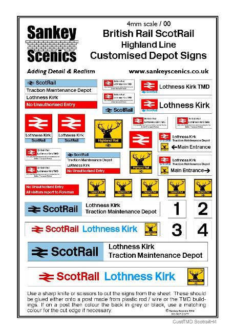 4mm Customised TMD Signage: BR ScotRail Highland