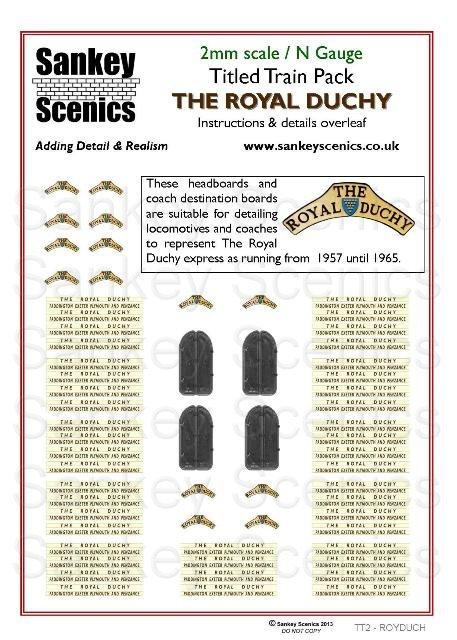 2mm Titled Train: The Royal Duchy