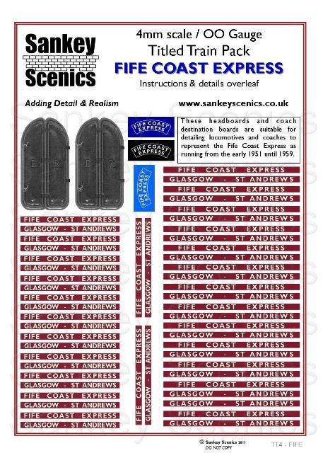 4mm Titled Train: Fife Coast Express