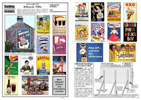 4mm Billboard Posters 1950s Pack 1
