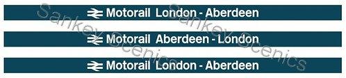 4mm Motorail Destination Boards: London - Aberdeen