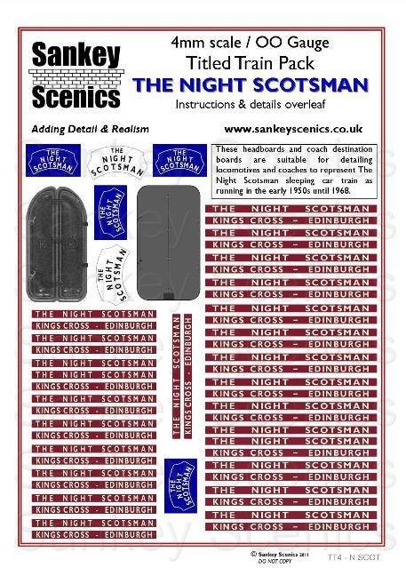 4mm Titled Train: The Night Scotsman