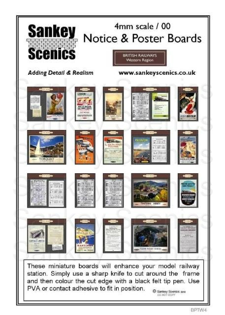 4mm BR Poster & Timetable Boards Western Region