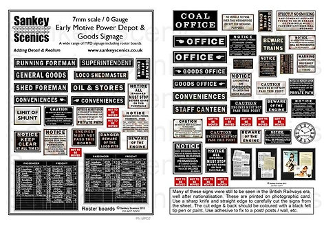 7mm Early MPD / Goods Signs