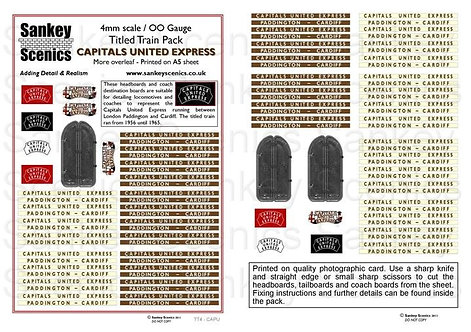 4mm Titled Train Pack: Capitals United Express