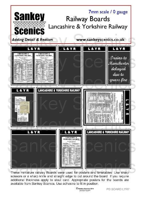 7mm Pre-Grouping Station Boards: Lancashire & Yorkshire Railway
