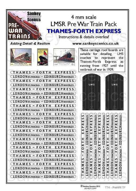 4mm Pre-war Titled Train: Thames-Forth Express