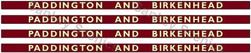 4mm BR Hawksworth Destination Boards: Paddington & Birkenhead