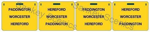 4mm WR Destination Panels: Paddington, Worcester, Hereford
