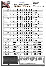 7mm GWR Pre War Titled Train Bristolian.