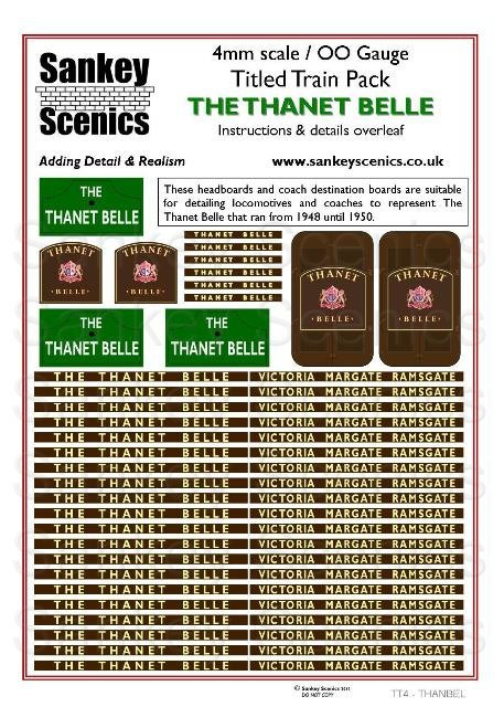 4mm Titled Train: Thanet Belle