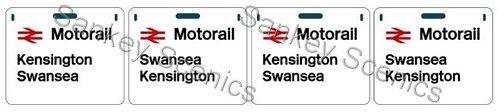 4mm Motorail Destination Panels: Kensington, Swansea
