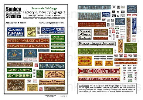2mm Factory & Industry Signage   Pack 2