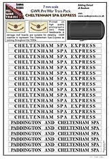 7mm GWR Pre War Titled Train Cheltenham